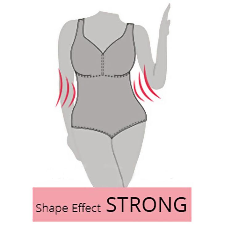 Illustration der Wirkug der Shapewear Modellierungsstärke Strong