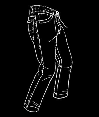 Schemazeichnung für die Relaxed Fit-Passform von JP1880