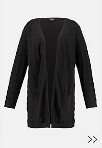 Sweter, otwarty fason