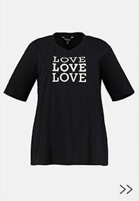 T-shirt V, motif LOVE