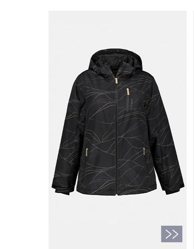 Line Print Ski Jacket