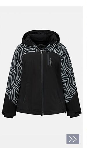 Skijacke, Zebramuster