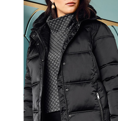 Fur Collar Quilted Jacket