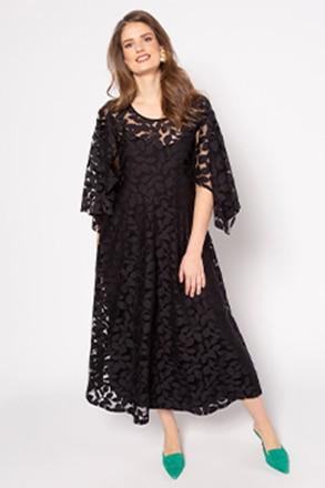 Kleid, floraler Ausbrenner