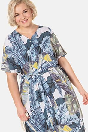 Kleid, Dschungelmuster