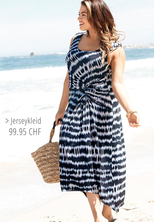 Jerseykleid im Zebramuster