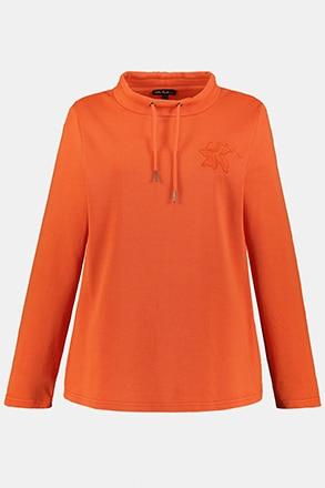 Sweatshirt, blombroderi
