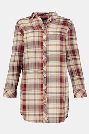 Chemise longue à carreaux