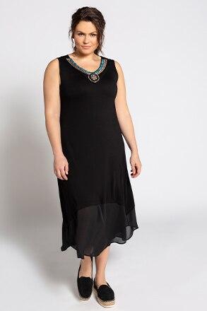 Kleid, geschmückter Ausschnit