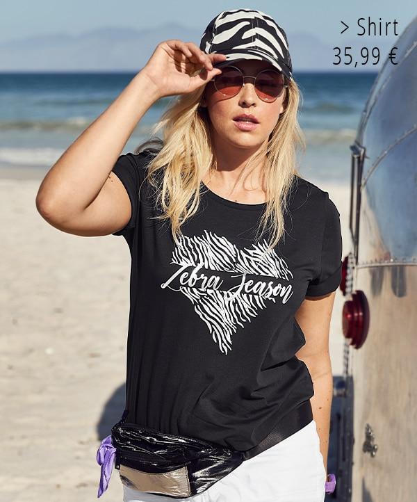 T-Shirt, Zebra-Herz