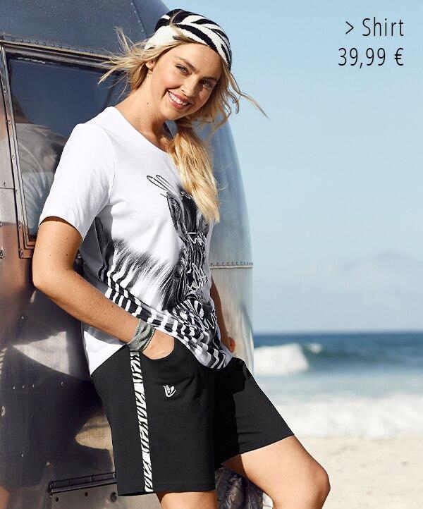 T-Shirt, Zebramotiv