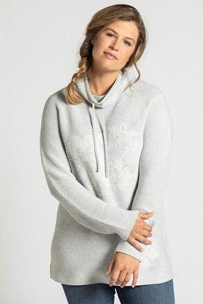 Long-Pullover, gestricktes Motiv