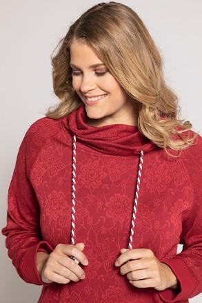 Sweatshirt, geblümter Jacquard