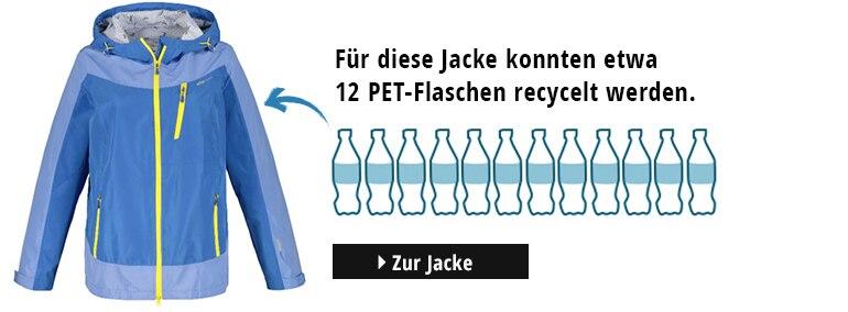 Regenjacke, recyceltes Polyester, atmungsaktiv