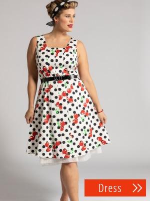 Cherry Dot Print Dress