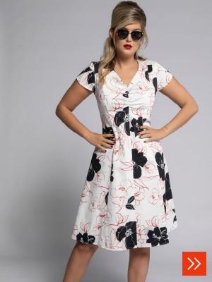 Vintage-Kleid mit Blütenmuster