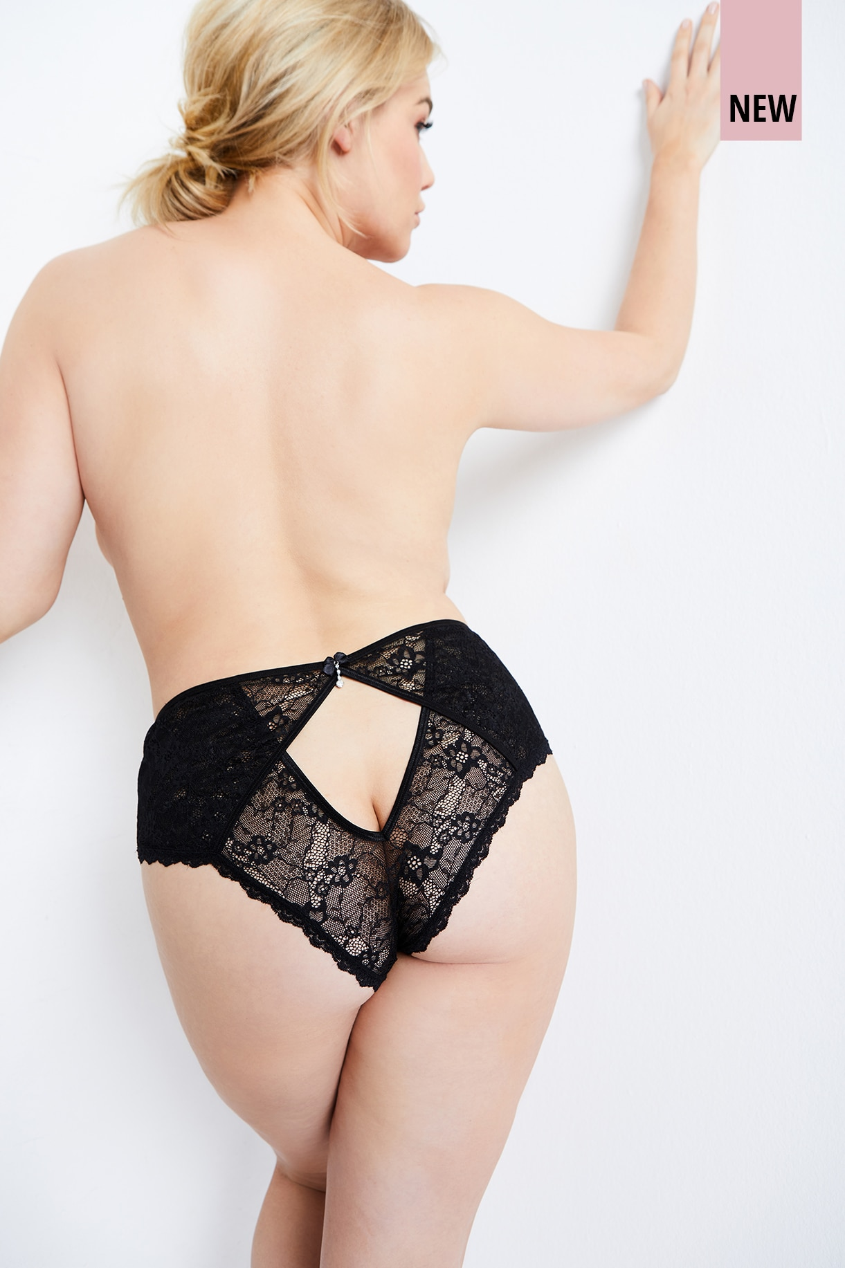 Back Cut Out Sheer Lace Panties