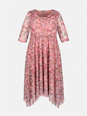 Robe d'été, mesh fleuri