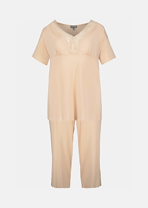 Lace Trim Pajama Set