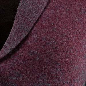 Detailaufnahme von Boiled-Wool eines Ulla Popken Kleidungsstücks