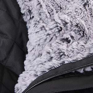 Detailaufnahme von Fake Fur an einem Kleidungsstück von Ulla Popken
