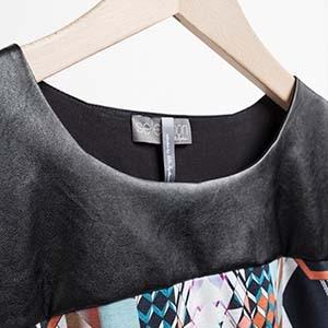 Lederimitat an einem Kleidungsstück von Ulla Popken