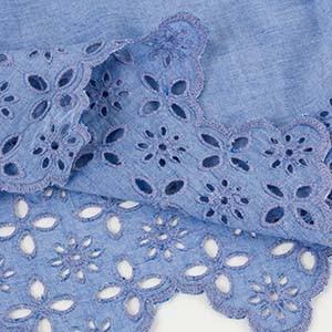 Detailaufnahme einer Lochstickerei an einem Kleidungsstück von Ulla Popken