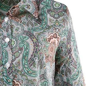 Detailaufname von Paisly an einem Ulla Popken Kleidungsstück