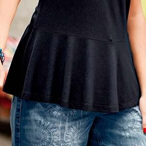 Schößchen an einem Kleidungsstück von Ulla Popken