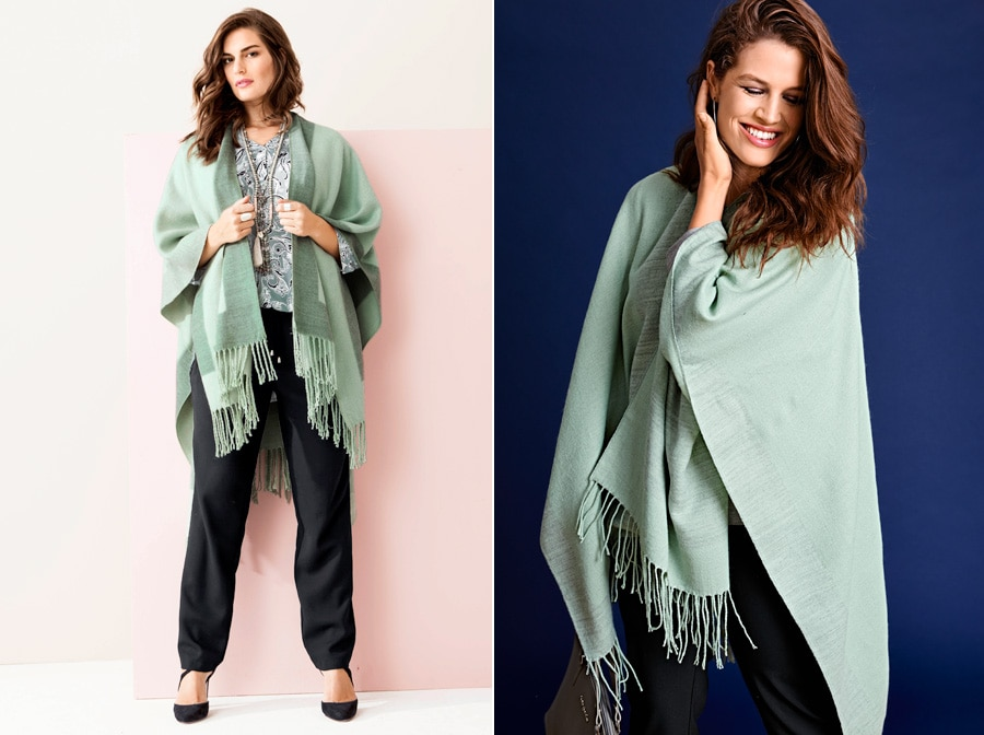 Poncho in Mint