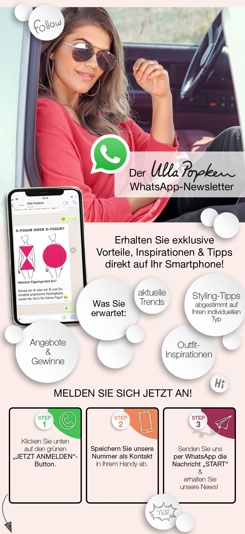 Whatsapp Newsletter Anmeldung
