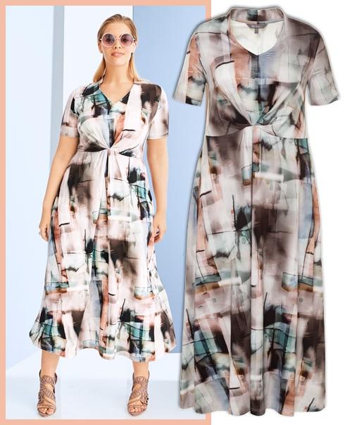 Dieses Kleid legt den Fokus auf die Taille