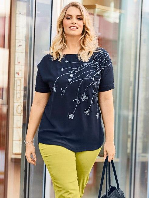 Shirt mit Modal-Anteil