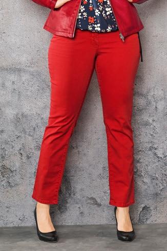 Enge Jeans in großen Größen in Rot