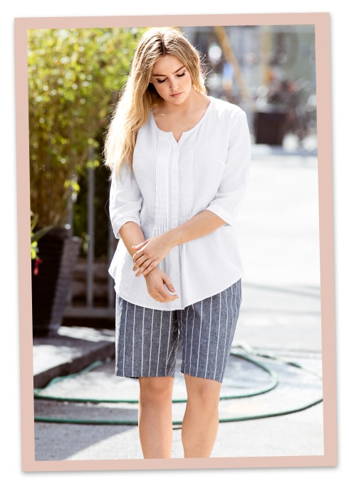Plussize Mode für heiße Tage