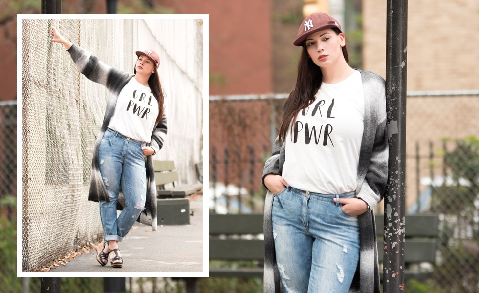 Silvana Denker zeigt ein Outfit von Studio Untold