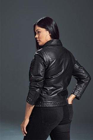 Nappa Leather Lined Biker Jacket