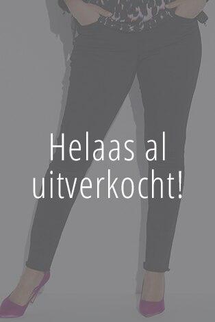 ankel jeans met rafels onderaan de pijpen, stretchdenim