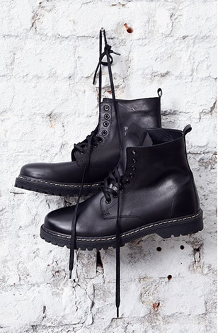 boots, real leather, lace-ups, striking outsole