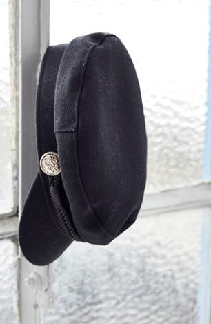 Elbsegler-Mütze, maritim mit Goldknöpfen