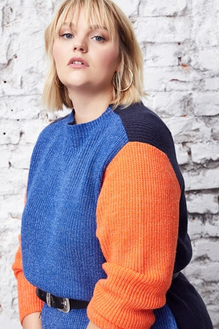 Colourblocking knitted sweater