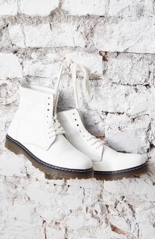 Boots, echtes Leder, Schnürer, markante Profilsohle