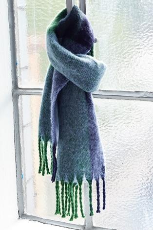 sjal, mysmjuk, fransar