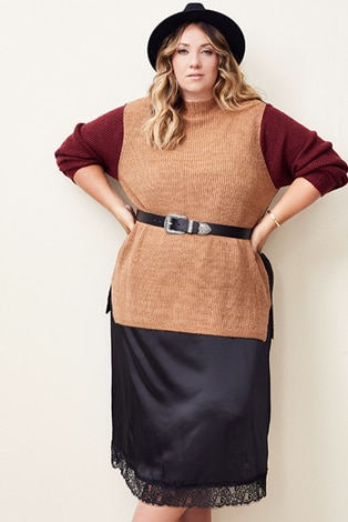 Pull en maille color-block