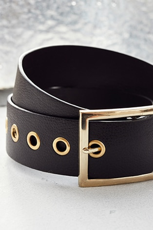 belt, especially for jeans, leather-look