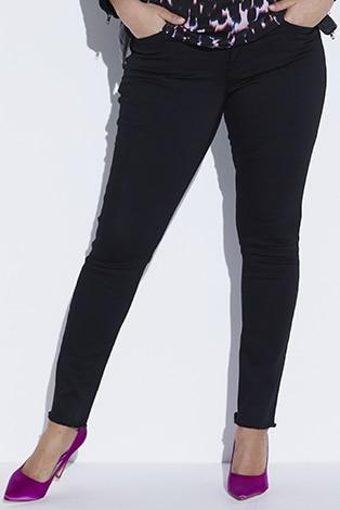 Skinny Jeans mit Fransen