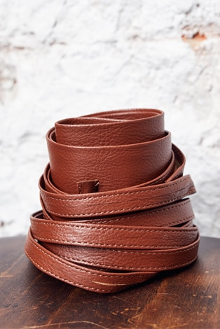 Belt, to tie on the waist or hip, soft faux leather